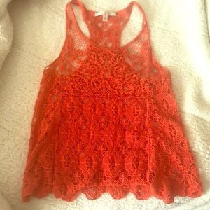 Crocheted tank